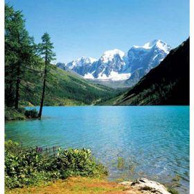 Фотообои Горное озеро ЛЮКС 2,04х1,94 м (из 6 листов) Ош