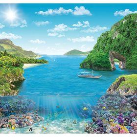 Фотообои Коралловый риф ЛЮКС 2,04х1,94 м (из 6 листов) Ош