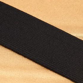 Лента эластичная, ширина 35мм, 25±1м, цвет чёрный Ош
