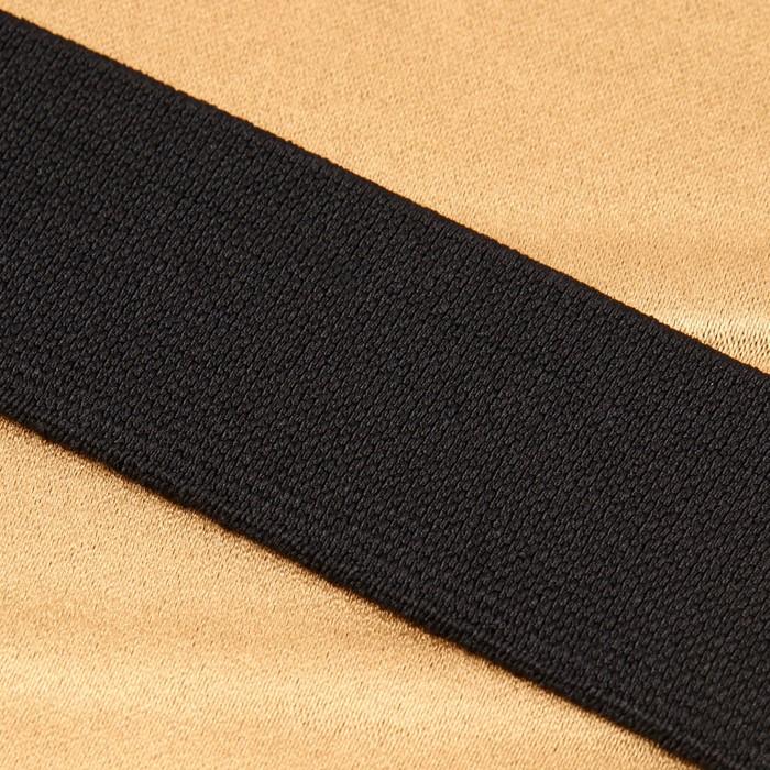 Лента эластичная, 35 мм, 25 ± 1 м, цвет чёрный - фото 687530