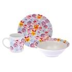 """Набор """"Смешарики"""", 3 предмета: кружка 240 мл, миска d=18 см, тарелка d=19 см"""