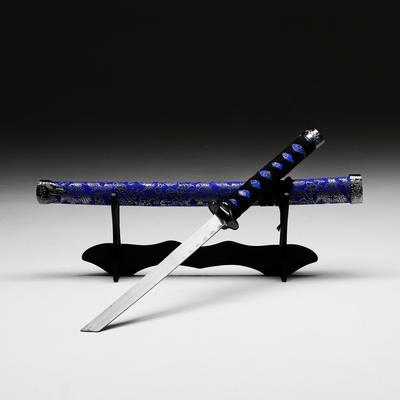 Сувенирное оружие «Катана на подставке», серые ножны с цветочным узором, 70 см