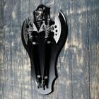 """Сувенирное оружие """" Топоры"""" на планшете с демоном, 45х57 см - фото 872131"""