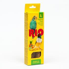 Палочки RIO для волнистых попугайчиков и экзотов с тропическими фруктами, 2 х 40 г