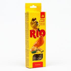 Палочки RIO для канареек, с медом и полезными семенами, 2 х 40 г