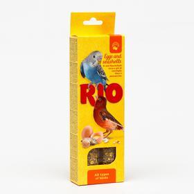 Палочки RIO для всех видов птиц, с яйцом и ракушечником, 2 х 40 г