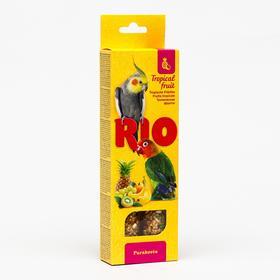 Палочки RIO для средних попугаев, с тропическими фруктами, 2 х 75 г