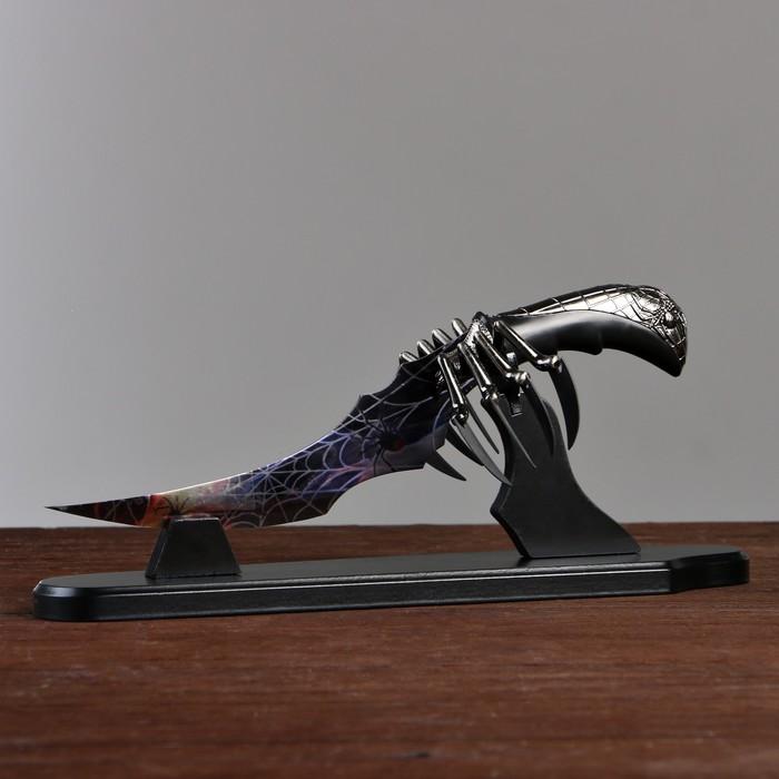 """Сувенирный нож на подставке """"Паук"""" - фото 8875332"""