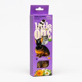 Палочки Little One с травами и цветами для морских свинок, кроликов и шиншилл, 55 г х 2 шт