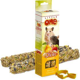 Палочки Little One с фруктами и орехами для хомяков, крыс, мышей и песчанок, 55 г х 2 шт