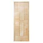 Дверь глухая, липа сорт А, 180 х 70 см