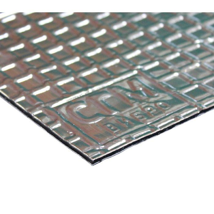 Вибродемпфирующий материал Алюмаст CГМ Base (М1Ф1) (60 мкм) 1,5 мм, лист 0,5 х 0,7 м