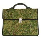 Портфель деловой ткань 350х260х10 мм «Сестрорецк» Камуфляж, цвет зелёный