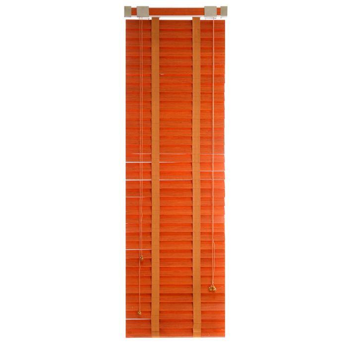 Жалюзи деревянные, размер 50х160 см, цвет черешня