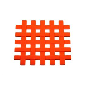 Подставка под горячее «Решетка», цвет оранжевый