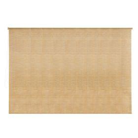 Штора рулонная, бамбук, размер 220х160 см