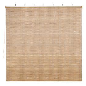 Штора рулонная, бамбук, размер 160х160 см