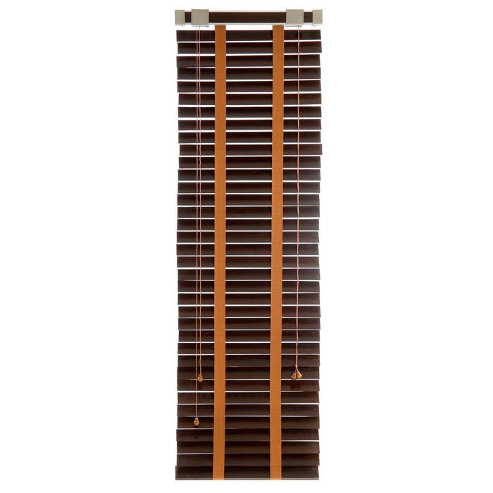 Жалюзи деревянные, размер 50х160 см, цвет венге
