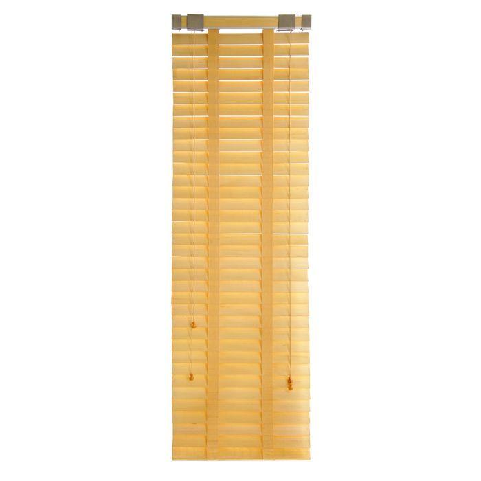 Жалюзи деревянные, размер 50х160 см, цвет персик