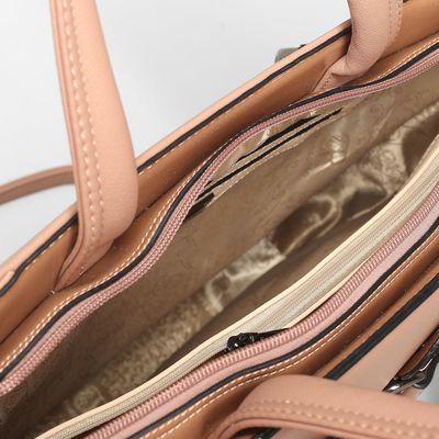 Сумка женская, отдел с перегородкой, наружный карман, длинный ремень, цвет бежевый