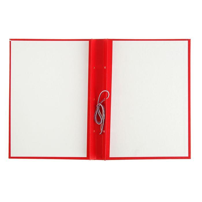 Папка для дипломных работ А4, без бумаги, красная - фото 404511219