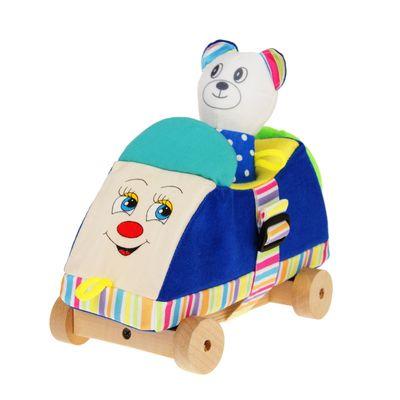 """Развивающая игрушка""""Машинка с мишкой"""" Д-203-13  МИКС"""