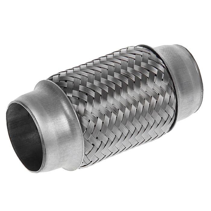 Гофра глушителя 45х120 мм, алюминизированная сталь