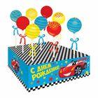 """Набор для кейк-попсов """"С Днём рождения"""", тачки, набор: 9 палочек, подставка"""