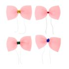 Бабочка карнавальная маленькая, розовый неон, на резинке, цвета МИКС
