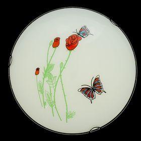 Светильник настенно-потолочный 'Аромат розы' на 2 лампы Е27 40W диам 30 см Ош