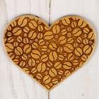 Подставка под горячее «Сердце», береста