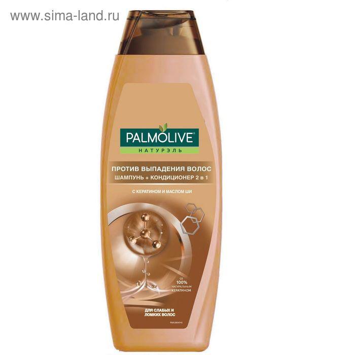 Шампунь для волос Palmolive 2 в 1«Против выпадения волос», с кератином и маслом ши, 380 мл