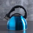 """Чайник """"Модерн"""", макс. объем 2,5 л, со свистком, фиксированная ручка, цвет голубой"""
