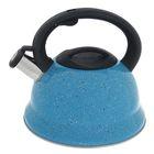 """Чайник со свистком """"Рио"""", макс. объем 2,8 л, фиксированная ручка, цвет голубой"""