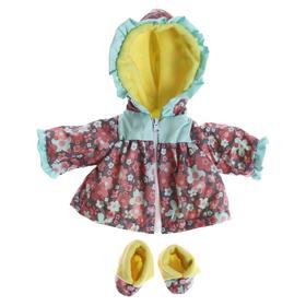 Одежда для кукол «Плащ теплый с пинетками», МИКС