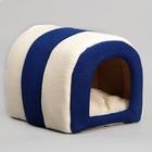 """Домик-тоннель """"Лапа"""", 28 х 28 х 35 см, мебельная ткань, микс цветов"""