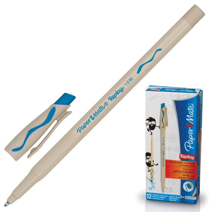 Ручка Пиши-стирай шариковая PAPER MATE Replay, толщина письма 1,0 мм, стержень бирюзовый
