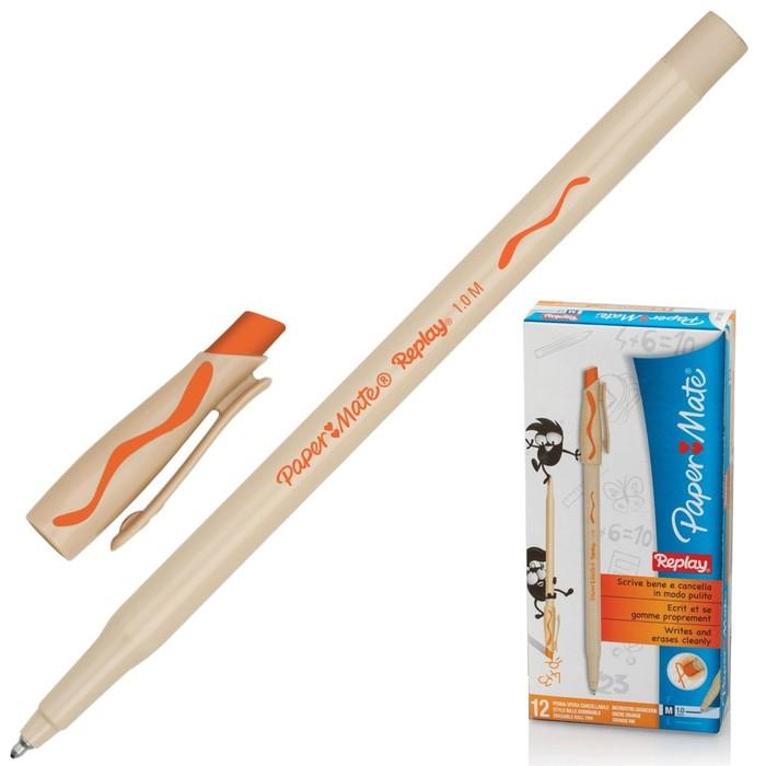 Ручка Пиши-стирай шариковая PAPER MATE Replay, толщина письма 1,0 мм, стержень оранжевый
