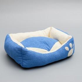 """Лежанка """"Лапа"""", 45 х 35 х 13 см, мебельная ткань, микс цветов"""