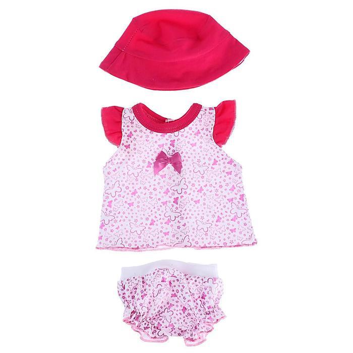 Одежда для кукол «Туника и трусики со шляпкой» - фото 106552555