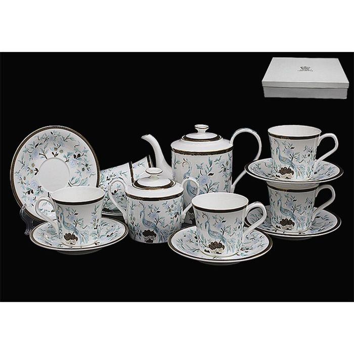 Чайный сервиз 16 предметов «Райская птица», в подарочной упаковке