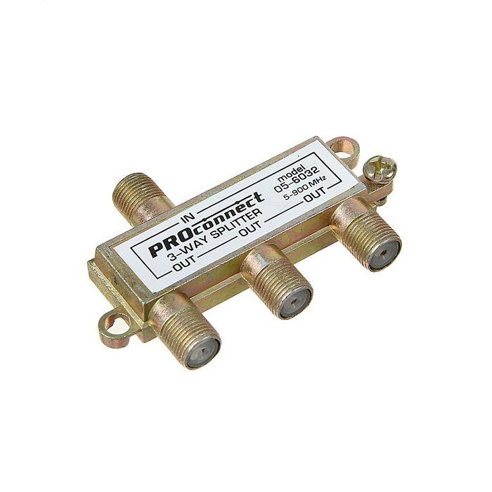 Делитель антенный Proconnect 05-6032, 3 TV, 5-900 МГц