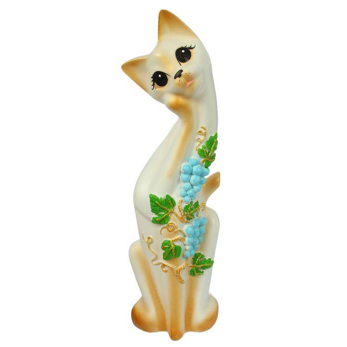 """Сувенир """"Кошка Алиса"""" виноград, бело-золотая, микс"""
