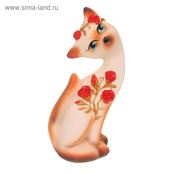 """Сувенир """"Кошка Алёнка"""" Розы бежевая"""