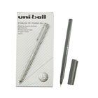 Ручка-роллер Uni-Ball II Micro UB-104 0.5мм черные чернила