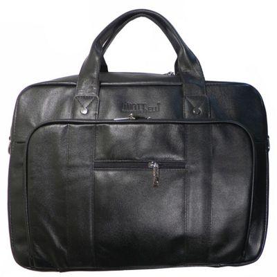 Портфель муж  ва440М-4205,40*11*33,отд на молнии, 2 н/кармана, длин ремень,черный матовый