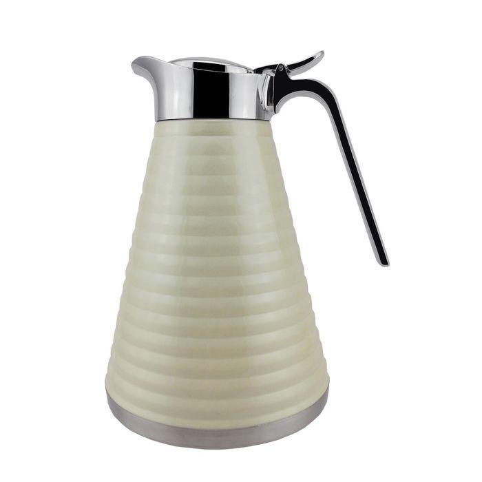 Кофейник-термос PALMOLIVE, 14,5х21,5х0,5 см, 1 л, белый, с двойными стенками