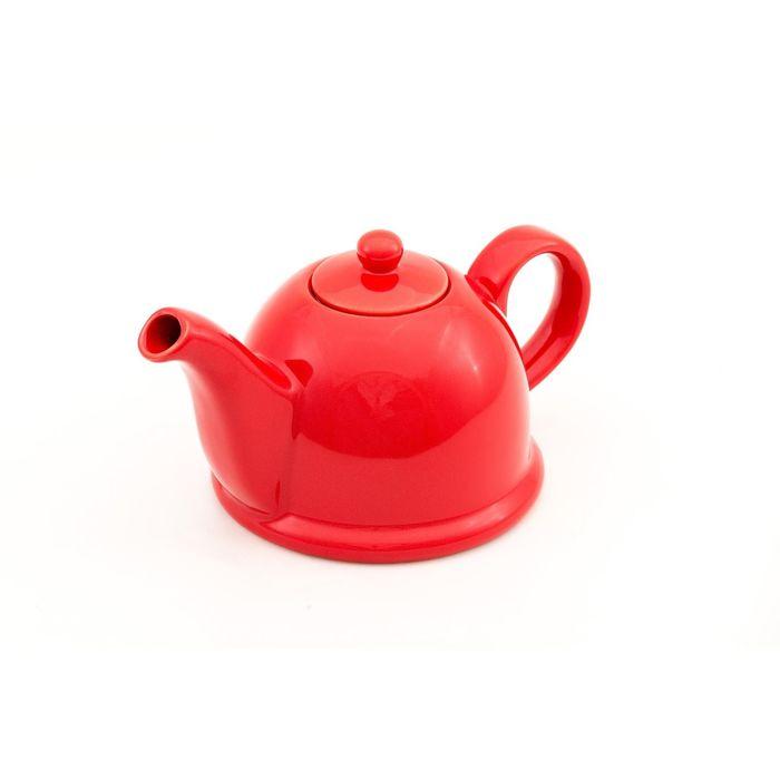 Заварочный чайник PELANGI 22х13,5х11,5 см, 0,8 л, бело-красный