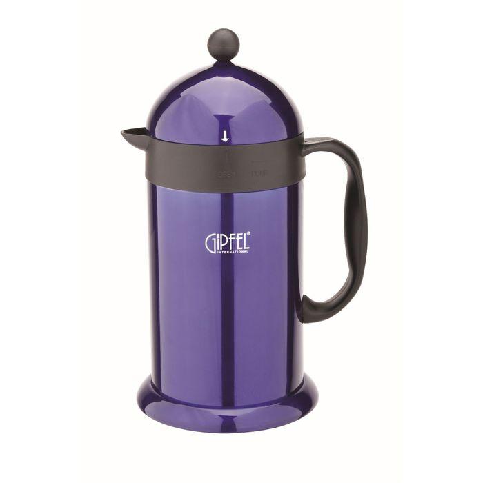 Кофейник-термос 15,5х13,5х27,5 см, 1 л, с двойными стенками, фиолетовая