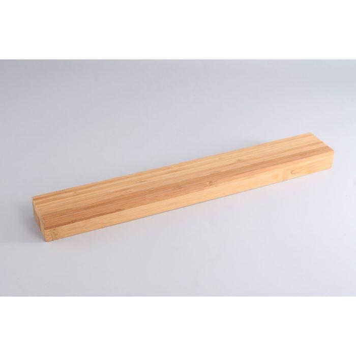 Настенная магнитная планка для хранения ножей Gipfel, 42x6x3 см, бамбук